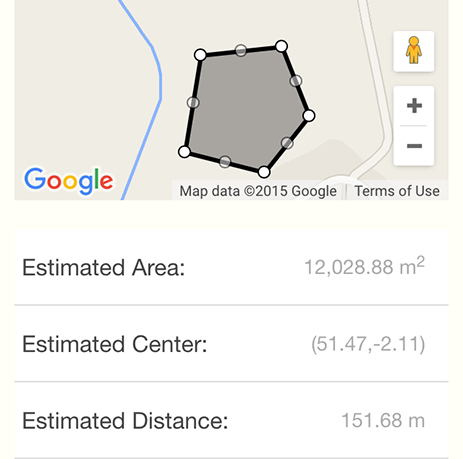 BeeMapp - area mapping in the app