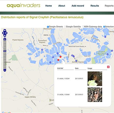 AquaInvaders website screen grab showing maps