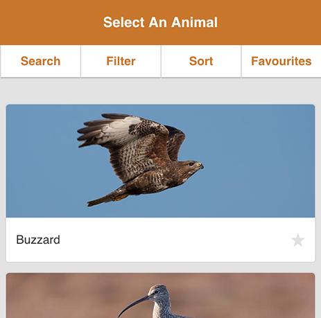 MoorWILD app home screen