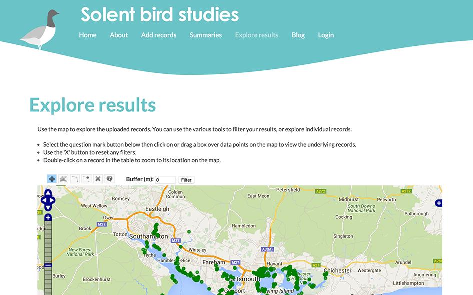 solent birds website - results page