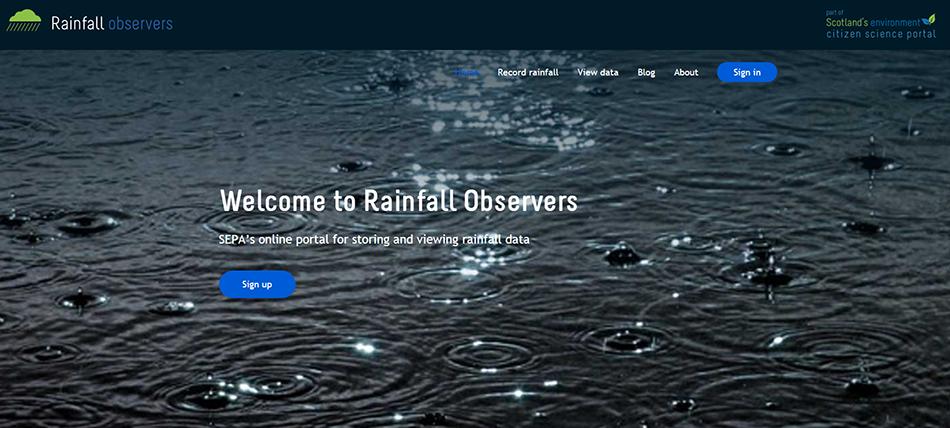 SEWeb Rainfall Observers website