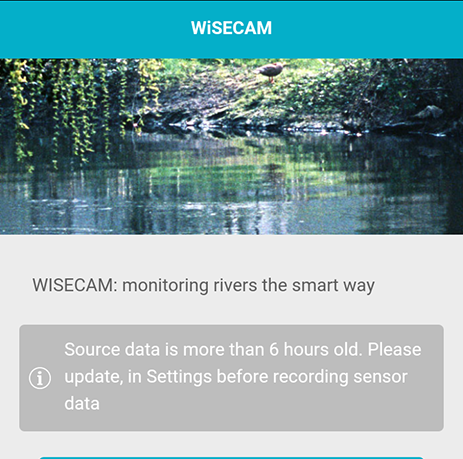 wisecam home screen