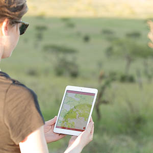 Serengeti app being used in the field