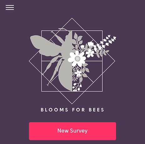 Blooms for Bees app home page