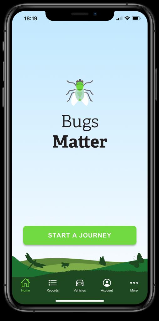 Bugs Matter home screen